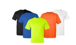 סט 6 חולצות קצרות מנדפות זיעה
