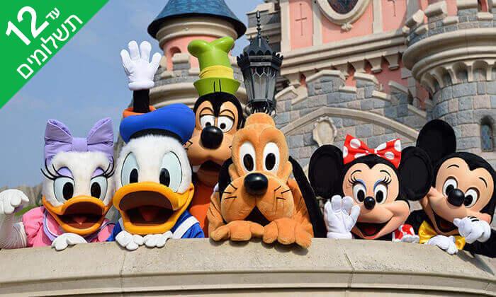 2 יולי-אוגוסט בפריז - כולל כניסה לפארקי Disneyland ל-3 ימים