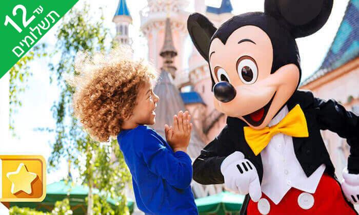 8 יולי-אוגוסט בפריז - כולל כניסה לפארקי Disneyland ל-3 ימים