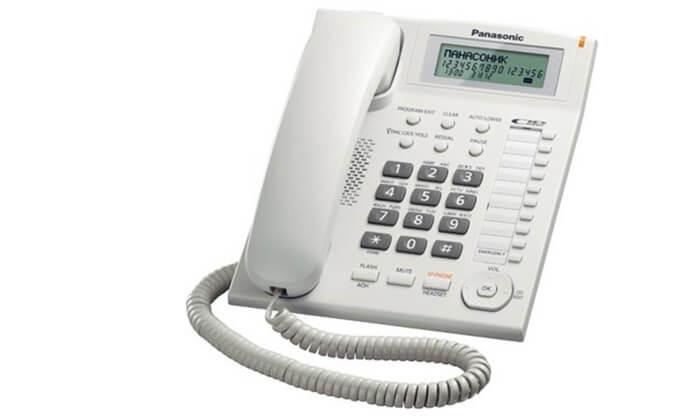2 טלפון שולחני פנסוניקPanasonic