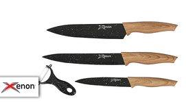 3 סכיני שף XENON וקולפן מתנה