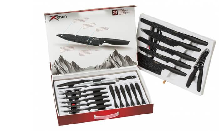 3 סט סכינים 24 חלקיםXENON