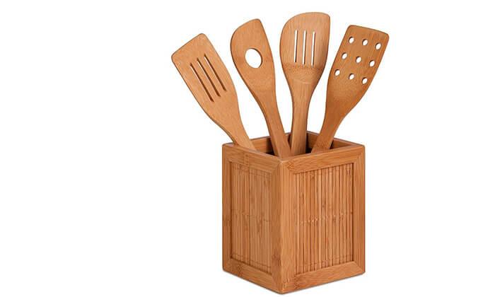 3 סט 4 כלי ששת מבמבוק honey can do
