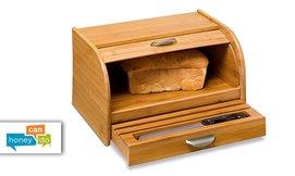 ארגז לחם מבמבוק Honey can do