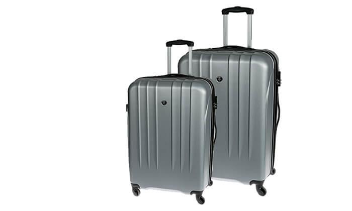 3 זוג מזוודות קשיחות סוויס SWISS BRIEF