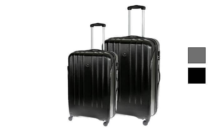2 זוג מזוודות קשיחות סוויס SWISS BRIEF