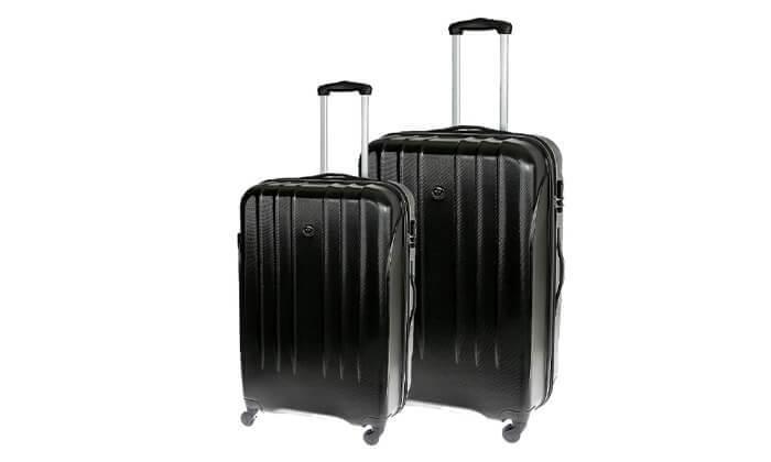 4 זוג מזוודות קשיחות סוויס SWISS BRIEF