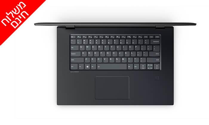 """5 מחשב נייד לנובו LENOVO עם מסך מגע """"15.6 וכ. גרפי GeForce - משלוח חינם"""