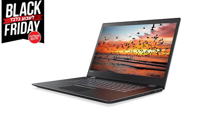 """3 מחשב נייד לנובו LENOVO עם מסך מגע """"15.6 וכ. גרפי GeForce - משלוח חינם!"""