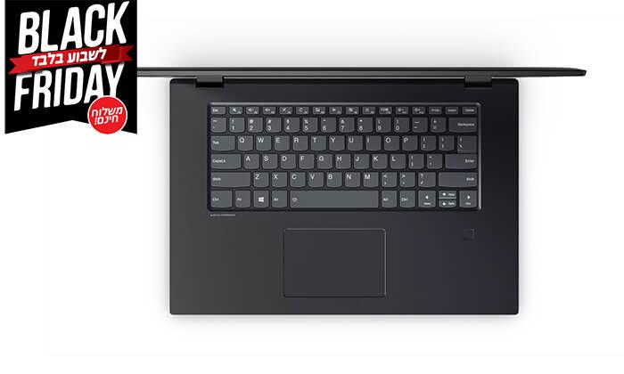 """5 מחשב נייד לנובו LENOVO עם מסך מגע """"15.6 וכ. גרפי GeForce - משלוח חינם!"""