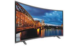 טלוויזיה חכמה קעורה עם מסך