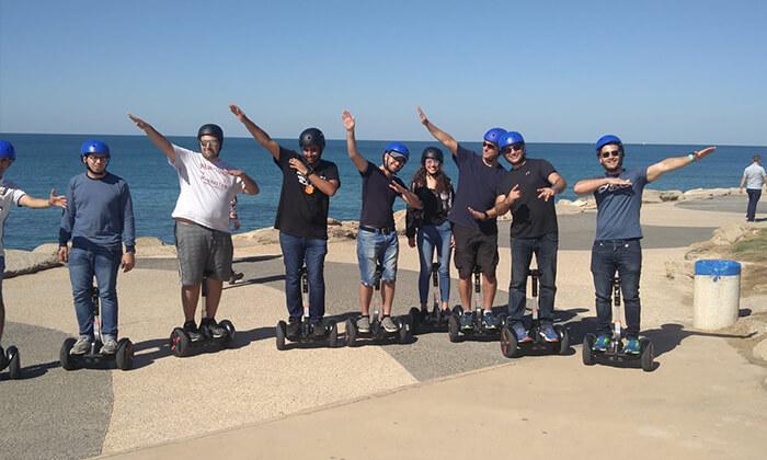 9 יום כיף בתל אביב עם טיול סגווי מודרך וארוחת צהריים כשרה
