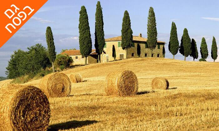 8 חופשה בלב טוסקנה איטליה, כולל רכב שכור. תקף גם בפסח