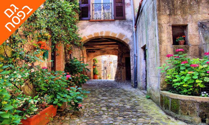 9 חופשה בלב טוסקנה איטליה, כולל רכב שכור. תקף גם בפסח