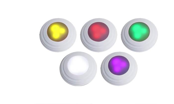 5 5 נורות לד אלחוטיות מחליפות צבעים