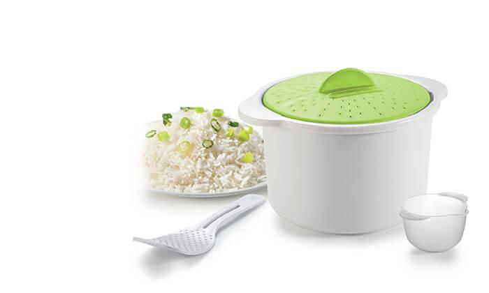2 סיר להכנת אורז וקטניות במיקרוגל