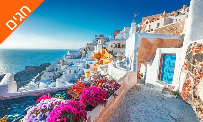 3 חופשה בסנטוריני - האי הקסום ביותר ביוון, כולל חגים
