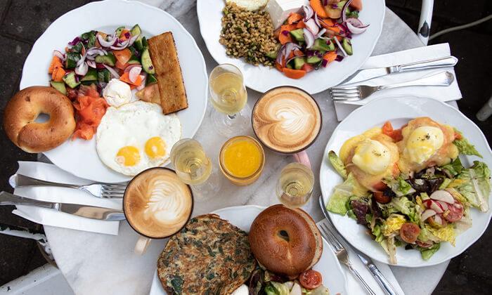 2 ארוחת בוקר במסעדת נולה, דיזנגוף תל אביב