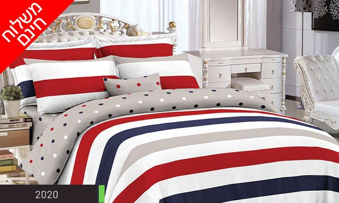 3 סט מצעים למיטה זוגית 100% כותנה - משלוח חינם