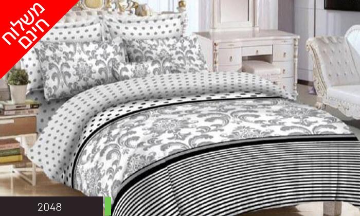 12 סט מצעים למיטה זוגית 100% כותנה - משלוח חינם