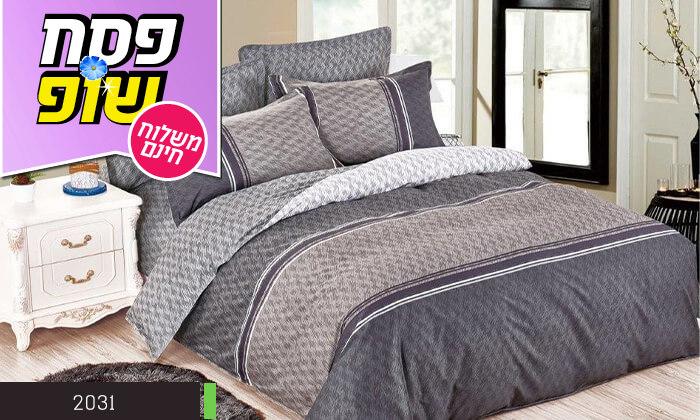 6 סט מצעים למיטה זוגית 100% כותנה - משלוח חינם!