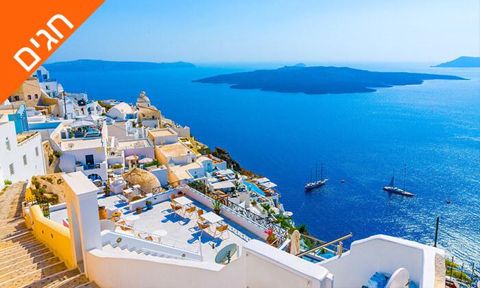 """3 חופשת 5 כוכבים במיקונוס, האי הקסום ביותר ביוון - כולל סופ""""ש"""