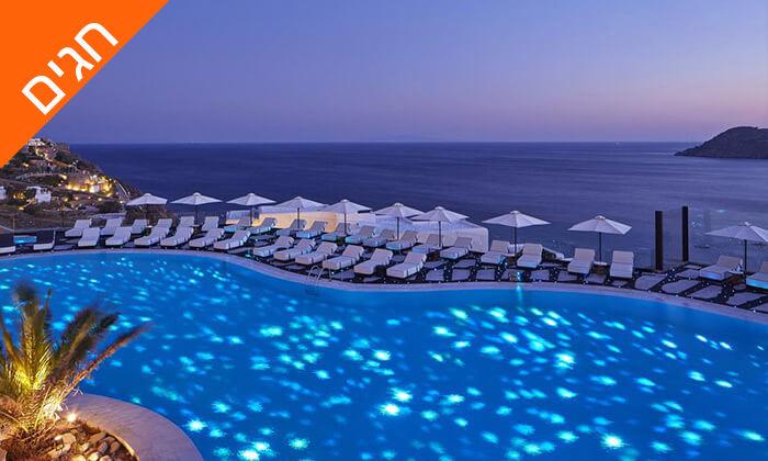 """2 חופשת 5 כוכבים במיקונוס, האי הקסום ביותר ביוון - כולל סופ""""ש"""
