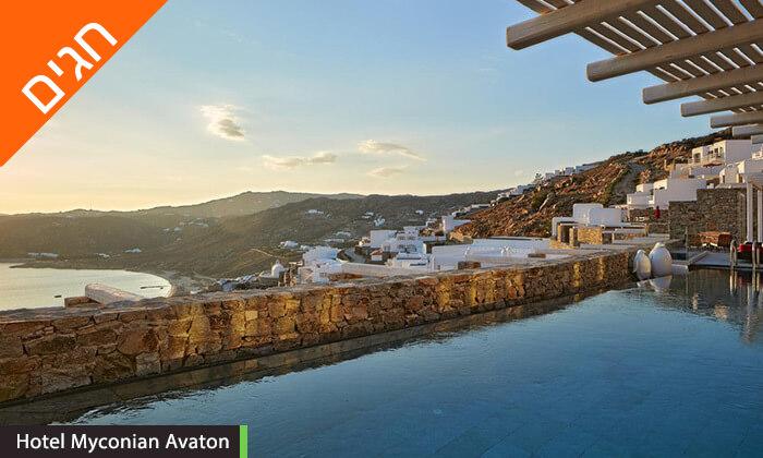 """8 חופשת 5 כוכבים במיקונוס, האי הקסום ביותר ביוון - כולל סופ""""ש"""