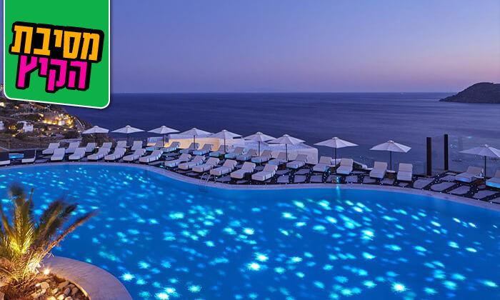 """4 מיקונוס - חופשת 5* באי הקסום ביותר ביוון במלון מרשת Myconian, כולל סופ""""ש"""
