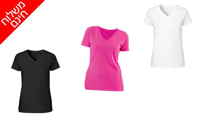 2 3 חולצות מנדפות זיעה לנשים T-Gold - משלוח חינם