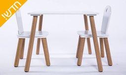 שולחן ושני כיסאות לילדים