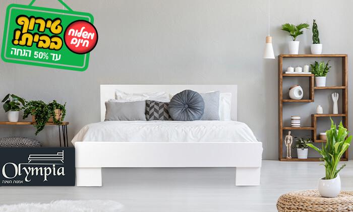 2 אולימפיה: מיטה מעץ עם מזרן אורתופדי - הובלה והרכבה חינם!