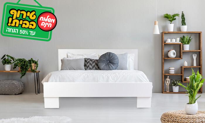 4 אולימפיה: מיטה מעץ עם מזרן אורתופדי - הובלה והרכבה חינם!