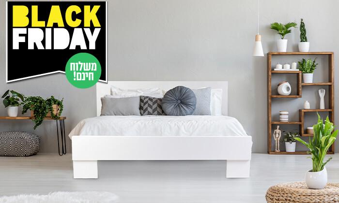 4 אולימפיה: מיטה מעץ עם מזרן קפיצים - הובלה והרכבה חינם