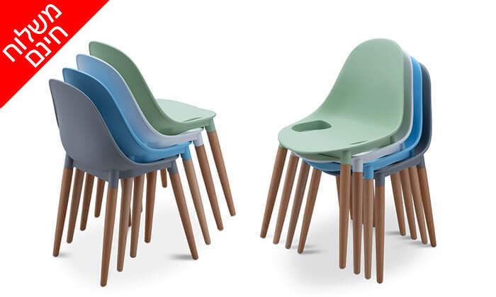 4 שמרת הזורע: 4 כיסאות צבעוניים לפינת אוכל - משלוח חינם!