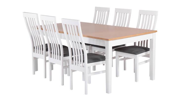 5 פינת אוכל נפתחת עם 6 כיסאות HOME DECOR