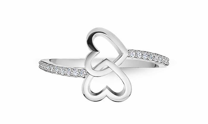 3 טבעת זהב ויהלומים 14K של GOLDIAM - משלוח חינם