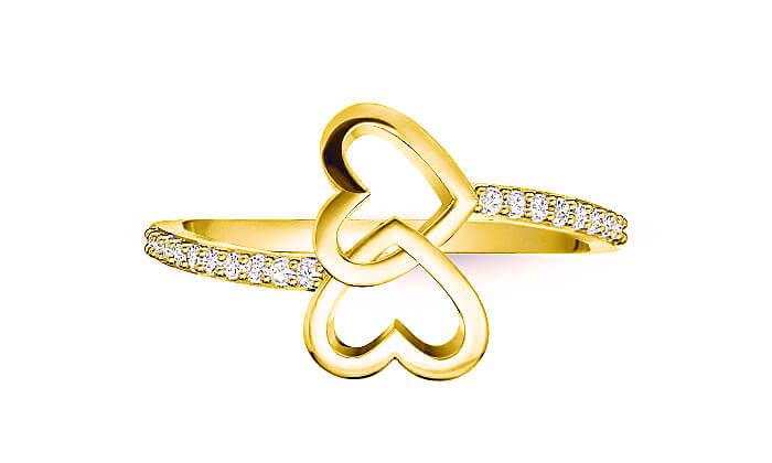 5 טבעת זהב ויהלומים 14K של GOLDIAM - משלוח חינם