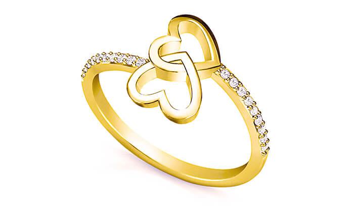 6 טבעת זהב ויהלומים 14K של GOLDIAM - משלוח חינם