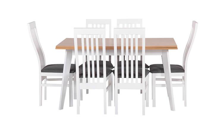 3 פינת אוכל נפתחת עם 4 כיסאות HOME DECOR