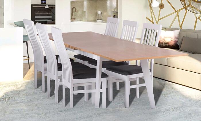 4 פינת אוכל נפתחת עם 4 כיסאות HOME DECOR