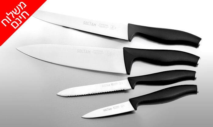 3 סט 4 סכינים מקצועיים סולתם SOLTAM