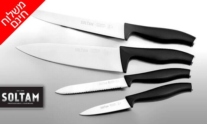 2 סט 4 סכינים מקצועיים סולתם SOLTAM