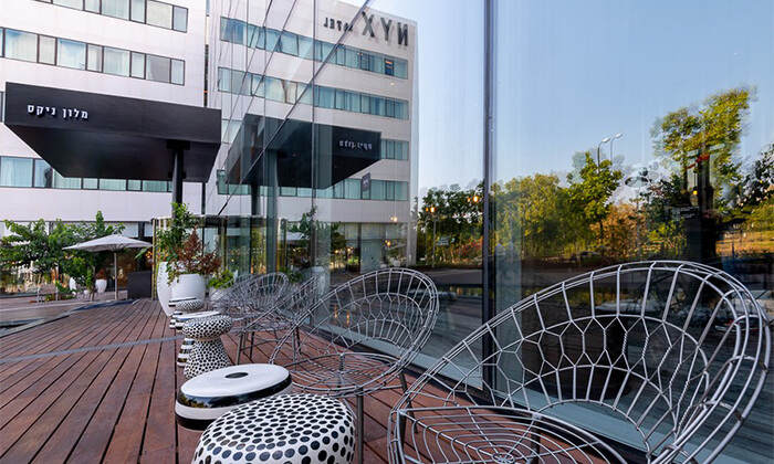 12 חבילת ספא זוגיתבמלון NYX הרצליה פיתוח