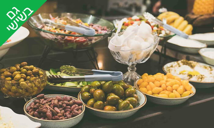 3 ארוחת בוקר בופה לזוג במלון גארדן הוטל, חיפה