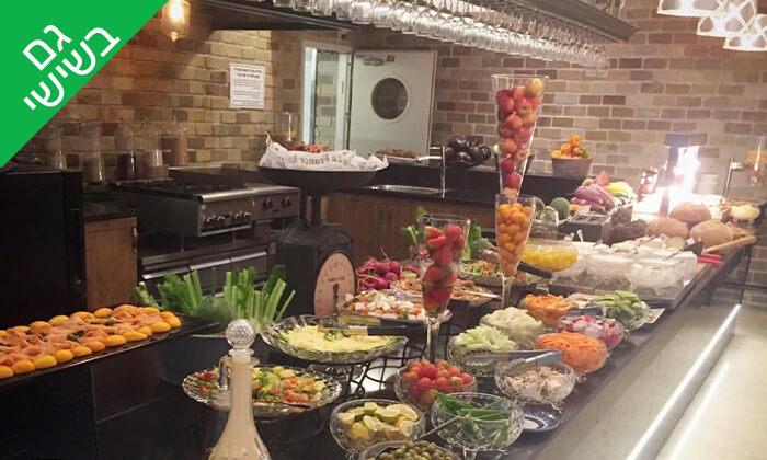 7 ארוחת בוקר בופה לזוג במלון גארדן הוטל, חיפה