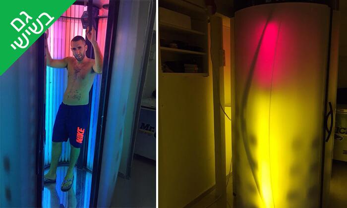 """3 מקלחון שיזוף - סלון יופי ג'יזל, שוק הכרמל ת""""א"""