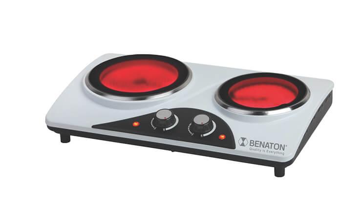 3 כירה קרמיתחשמלית BENATON