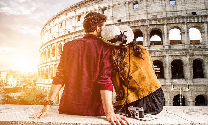 2 אפריל ברומא - הקולסיאום המפורסם, מזרקת המשאלות והאוכל הטוב בעולם