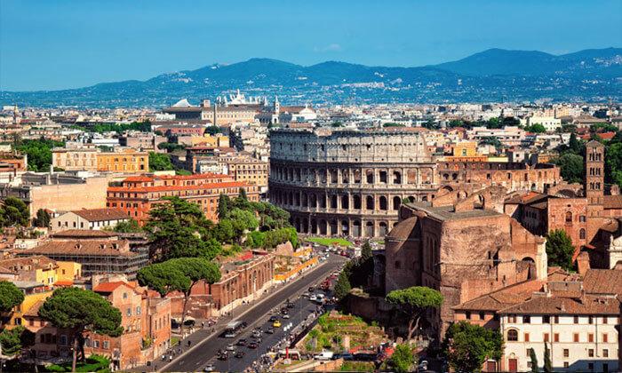 7 אפריל ברומא - הקולסיאום המפורסם, מזרקת המשאלות והאוכל הטוב בעולם